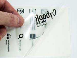 Наклейки на прозрачной пленке